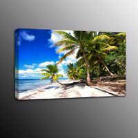 Coconut HD Canvas Print Painting Picture Wall Art Palm Tree Blue Sky Home Decor