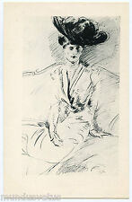 ARTIST SIGNED. PAUL CéSAR HELLEU. FEMME SUR UN CANAPé. WOMAN ON A SOFA.ESQUISSE.