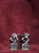 """Jeweled"" and Pewter Halloween Gargoyle Figurine Decor Heavy"