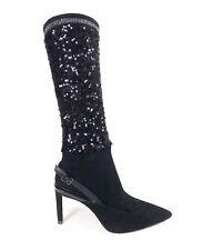 CHIC Escarpins Noir style nubuck avec effet chaussettes sequins ZARA 38