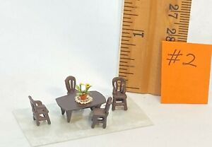 Dollhouse miniature 1/144th scale metal dining room #2