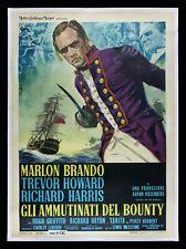 MUTINY ON THE BOUNTY ✯ CineMasterpieces ITALIAN ITALY MOVIE POSTER MARLON BRANDO