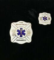 1980's Vintage Fire Paramedic (Lot of 2) hat push pin, lapel, tac, vest