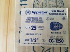 "10 pieces Appleton CG-1250 1/2"" Hub .125 -.187  Aluminum Cord Conn. CG-1250 new"