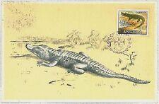 MAXIMU CARD - Fauna REPTILES Crocodile : ANGOLA 1958
