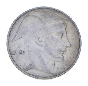 SILVER - WORLD Coin - 1949 Belgium 20 Francs - World Silver Coin *304