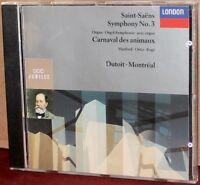 LONDON CD 430-720-2: Saint-Saens: Sym No 3; Carnaval des animaux - DUTOIT - 1991