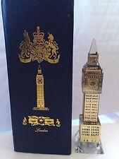 Londinese Big Ben Argento Placcato Cristallo Bicchiere con cambio luci