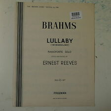 easy piano BRAHMS LULLABY ed. ernest reeves