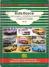 Rolls Royce Silver Dawn, Cloud & Phantom Book of Road Tests & Articles Pub. TSB