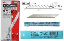lame di ricambio NT CUTTER BD-100 professionali 30° scatola 50pz taglierino