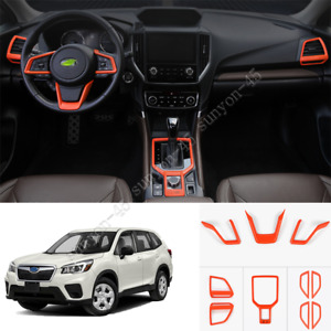 For Subaru Forester 2019-21 ABS Sport orange Interior Full set Accessories Trim