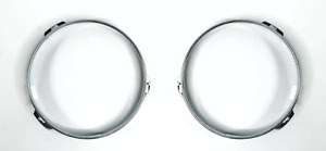 Pair Steel Headlight Retaining Rings For 1947-1957 Ford Cars & Pickup Trucks