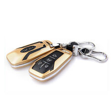 Gold Smart FOB Remote Key Cover Case Shell Fit for Ford Taurus Explorer Mustang