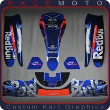 F1 Formula 1 Kart Sticker Kit for KG 506 Nosecone Nassau Panel Pods Floor Tray