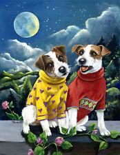 """Precious Pets Garden Flag - Jack Russell Moonphase 12"""" x 18"""" ~ Charity!"""