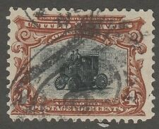 USA Scott #  296 4¢ Automobile used (296-1)