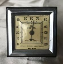 Art Deco Tel-Tru Desk Thermometer