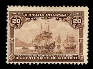#103 Edward VII 20c Canada mint