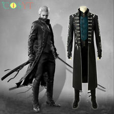 Devil May Cry 5 Vergil Cosplay Costume Leather Full Set