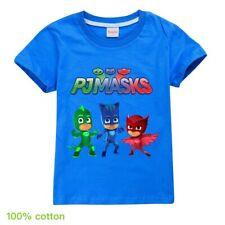 PJ MASKS Boys summer top t-shirt Tshirt size 4-10 kids clothing