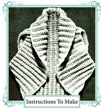 How to make a very easy warm hug me tight shrug top -vintage knitting pattern
