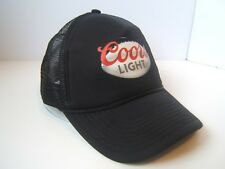Coors Light Beer Trucker Hat Black Snapback Rope Cap