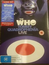 THE WHO TOMMY AND QUADROPHENIA LIVE WITH SPECIAL GUESTS RARE DVD MUSIC CONCERT