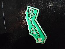 Vintage 70's Rubber State Fridge Magnet California