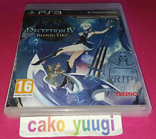 DECEPTION IV BLOOD TIES PS3 SONY NEUF SOUS BLISTER VERSION FRANCAISE