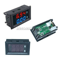 1/2/3PCS DC 100V10A Voltmeter Ammeter Blue & Red LED Amp Dual Digital Volt Meter