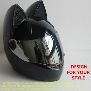 Motorcycle helmets for women Cat helmet with ears