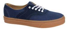 Zapatillas deportivas de mujer planos de color principal azul de lona