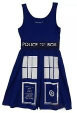 BBC DR Doctor Who TARDIS Skater Dress Police Call Box SZ XS Cosplay Costume NEW