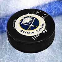 Pat LaFontaine Buffalo Sabres Signed Hockey Puck with HOF Inscription