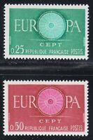 France 1960 MNH Mi 1318-1319 Sc 970-971 Europa Cept **