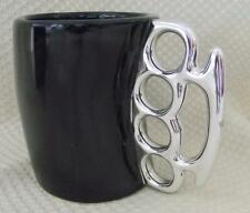 KNUCKLEDUSTER~Fist Mug~BRASS KNUCKLE~Duster Handle~Coffee Milk Ceramic Cup