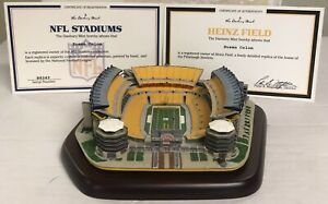 Danbury Mint Heinz Field Pittsburgh Steelers Replica Stadium All COA's