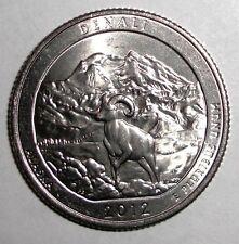 2012 US Quarter, 25 cents, National Parks, Denali, Alaska coin, Ram