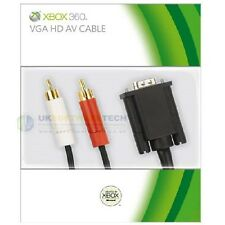 Official Microsoft Xbox 360 VGA HD AV Cable High Definition on Your PC Monitor