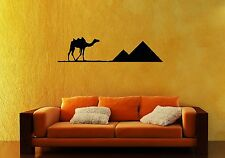 Wall Sticker Vinyl Decal Camel Pyramid Egypt Desert Travel Living Room ig1215