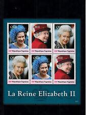Togo 2013 MNH Reign Elizabeth II 6v Sheetlet II Queen Royalty La Reine Togolaise