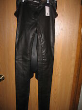 Prada leather pants Black Soft Size 38