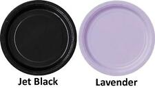 Paper Party Side/Snack Plates 8pk Approx 18cm - Black, Lavender, Yellow, Red,