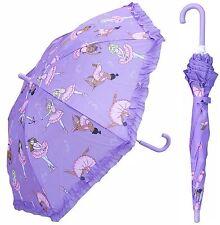 "32"" Children Purple Ballet Umbrella - RainStoppers Rain/Sun UV"