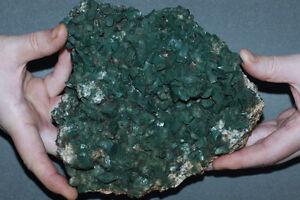 Green HEULANDITE, Celadonite Inclusions, Large Cluster