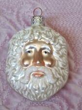 "1999 #9927 Patricia Breen Sand Dollar Santa Blown Glass Christmas Ornament 3.5"""