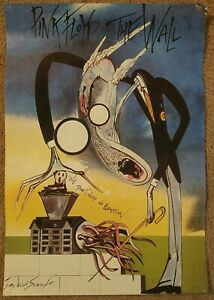 Pink Floyd The Wall We Don't Need No Education Gerald Scarfe 1982 Poster