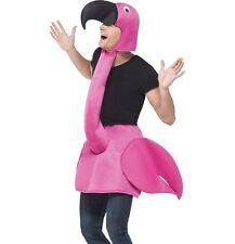 adulto Fenicottero rosa costume UCCELLO Abito 96.5-107cm Nuovo Da Smiffys