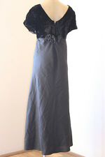 VINTAGE VELVET & FABRIC ROSES EVENING OPERA PARTY DRESS 18